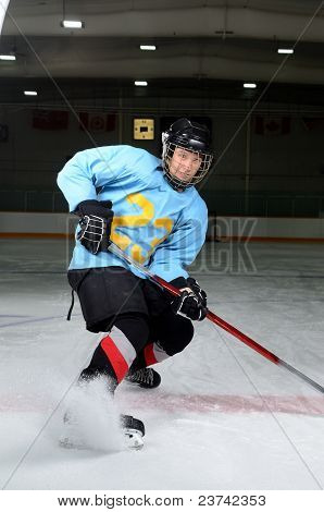 Teen Hockey Player