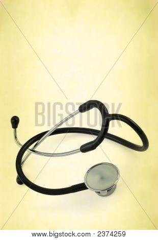 Stethoscope Against Old-Fashioned Background