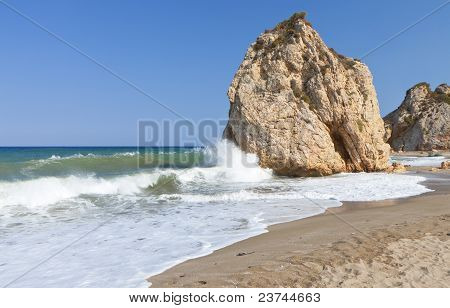 'Potistika' beach at Pelion in Greece