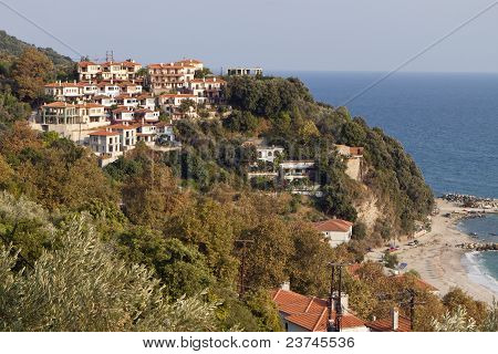 Agios Ioannis village in Greece