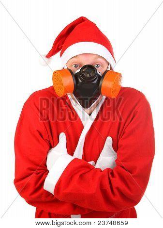 Santa In Mask