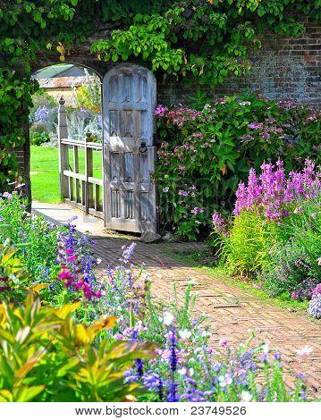 O portão do jardim
