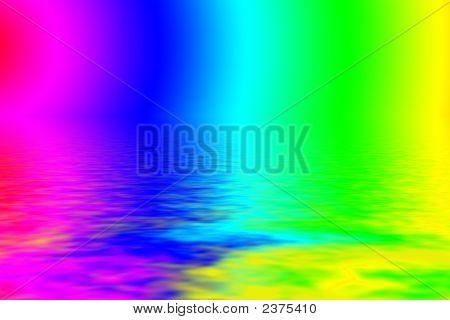 Vibrant Rainbow Paint Water Background