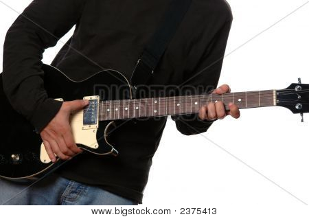 Close Up To Electric Guitar