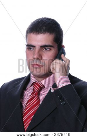 Young Businessman At Cell Phone