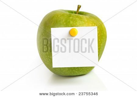 Green Apple With Blank