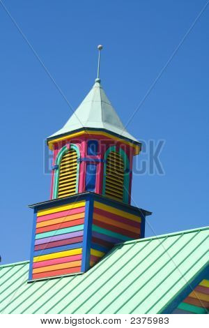 Colorful Wooden Tower