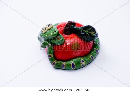 Snake With Apple