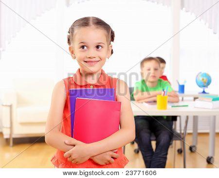 Portrait of a schoolgirl