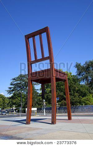 Broken Chair Monument In Geneve