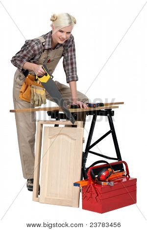 A busy cabinet maker