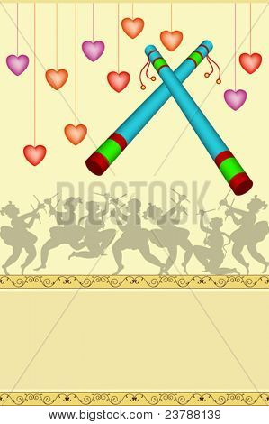 Garba Poster, backdrop design