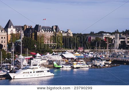 Beautiful Inner Harbor on Vancouver Island in Victoria, B.C.
