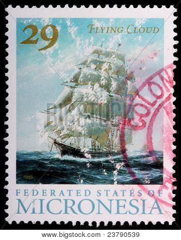 Eine 29-Cent-Briefmarke gedruckt In den Föderierten Staaten von Mikronesien