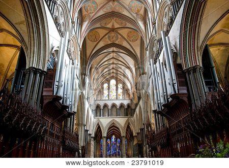 Vista interna Catedral de Salisbury
