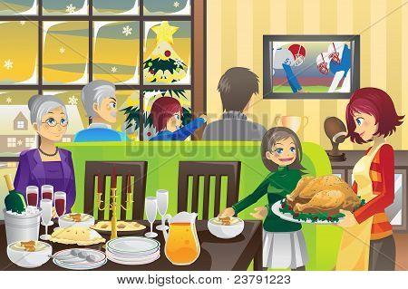 Família jantar de ação de graças