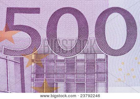 500 Euro Close-up