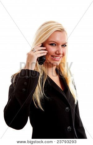 Attractive Young Business Woman On The Phone