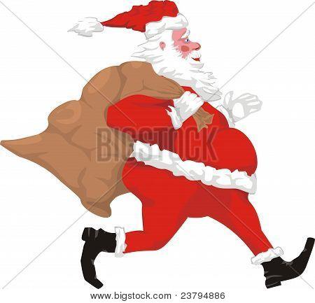 running santa claus