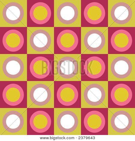 Retro Circles And Squares Collage