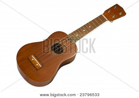 hawaiian guitar ukulele isolated