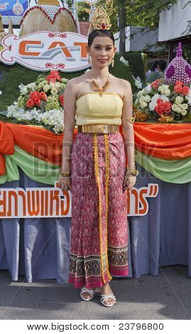 Woman With Thai Dress