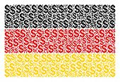 German State Flag Collage Done Of Dollar Elements. Vector Dollar Icons Are Organized Into Geometric  poster