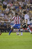 VALENCIA, SPAIN - SEPTEMBER 22 - FootBall Match of Spanish Professional Soccer League between Valenc