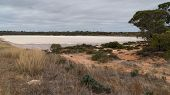Landscape With Salt Lakes On An Overcast Day In Western Australia poster