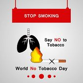 Illustration Of Lungs And Cigarette With World No Tobacco Day Stop Smoking Say No To Tobacco Text On poster