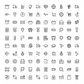 Delivery Flat Icon Set . Single High Quality Outline Symbol Of Info For Web Design Or Mobile App. Th poster