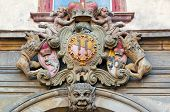 foto of sceptre  - Detailed view of historical coat of arms - JPG