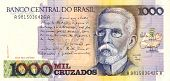pic of assis  - 1000 Cruzado banknote from Brazil South America - JPG