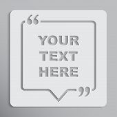 Vector Speech Bubble Quote Blank Template. Empty Quote Template. Business Quote Card Template, Infor poster