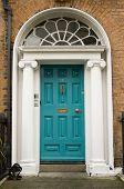 Original Turquoise Georgian Door
