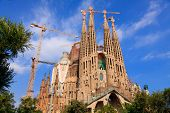 BARCELONA, SPAIN - SEPT 14: La Sagrada Familia - impressive cathedral designed by Gaudi, which is be