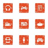 Modern Automobile Icons Set. Grunge Set Of 9 Modern Automobile Vector Icons For Web Isolated On Whit poster