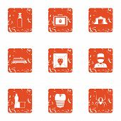 Far Edge Icons Set. Grunge Set Of 9 Far Edge Vector Icons For Web Isolated On White Background poster
