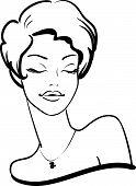 Постер, плакат: Женский портрет моды с закрытыми глазами