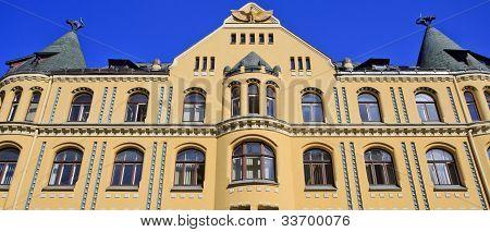 Classic cat building - Riga