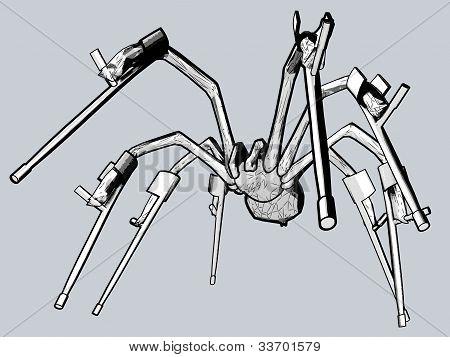 Grey spider handicaped