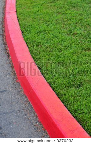 Red Painted Curb