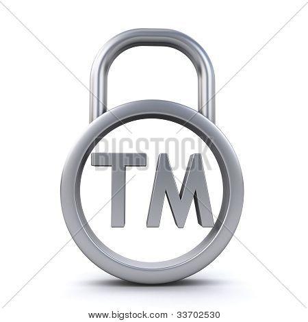 Trademark Sign Padlock