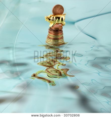 Coin In Piggy Bank