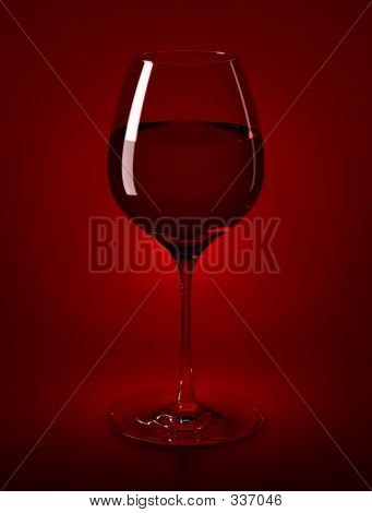 Wine Glass & Wine