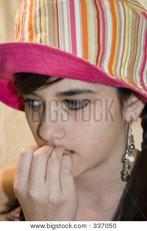 Girl Biting Fingernails
