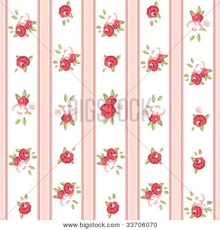 Vintage rose pattern. Seamless vector. Rose wallpaper