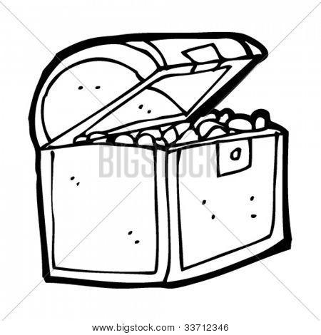 cartoon pirate treasure chest