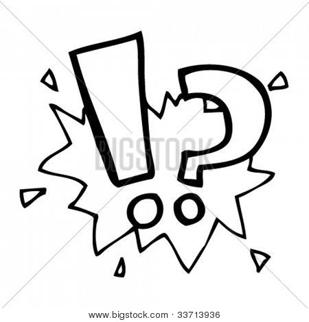 cartoon question and exclamation mark