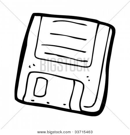 cartoon old computer disk
